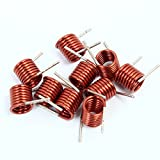 Icstation 7.5T 3.5mm Inner Diameter Copper Air Core Inductor Coil FM Remote Control (Pack of 100)