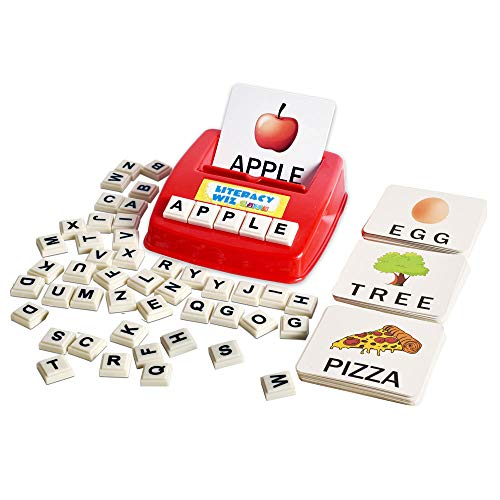 BOHS Literacy Wiz Fun Game - Uppercase Sight Words - 60 Flash Cards - Preschooler Language Learning Educational Toys