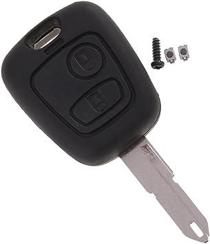 Reparatursatz Peugeot 206 2 Tasten Funkschlüsseletui Schalter /& battery ref;192