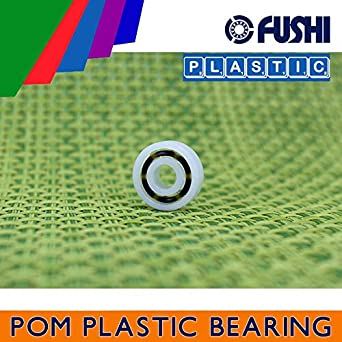 5 PCS POM 606 Bearing 6*17*6 mm Glass Balls Nylon Cage Plastic Ball Bearings