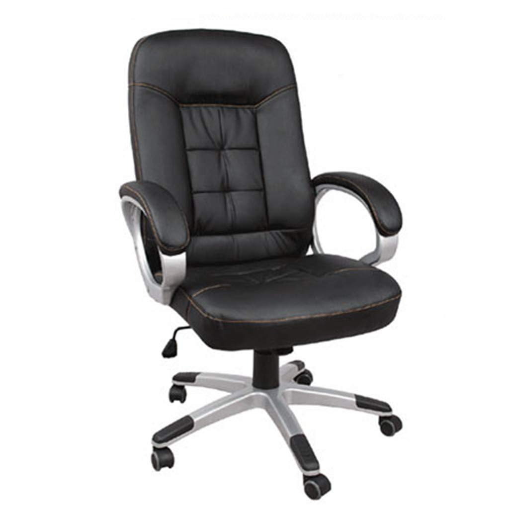 Pratcgoods Ergonomic High Back Adjustable Office Chair Rolling Swivel Executive Computer Chair PU Leather Gaming Stool(Black) by Pratcgoods
