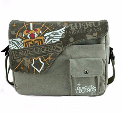 rare Schultertasche Tasche Shoulder Bag Rucksack reisetaschen Grün Gelb League Legends Attack On Titan new