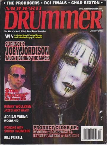 Modern Drummer Magazine (January 2002) (Joey Jordison of Slipknot - Talent Behind The Mask)