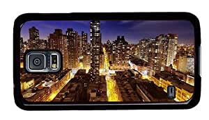 Hipster Samsung Galaxy S5 Case thin cases new york night view PC Black for Samsung S5