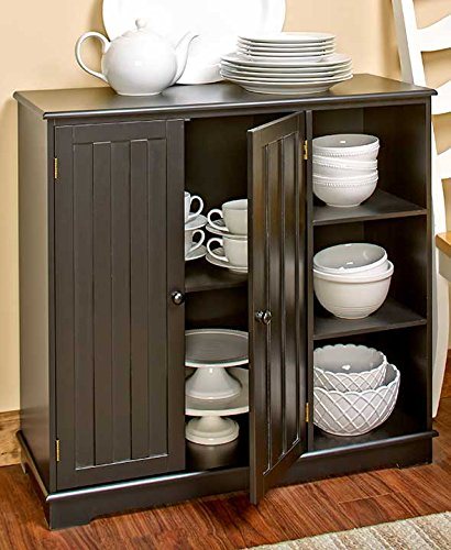 (The Lakeside Collection Beadboard Storage Unit- Black)