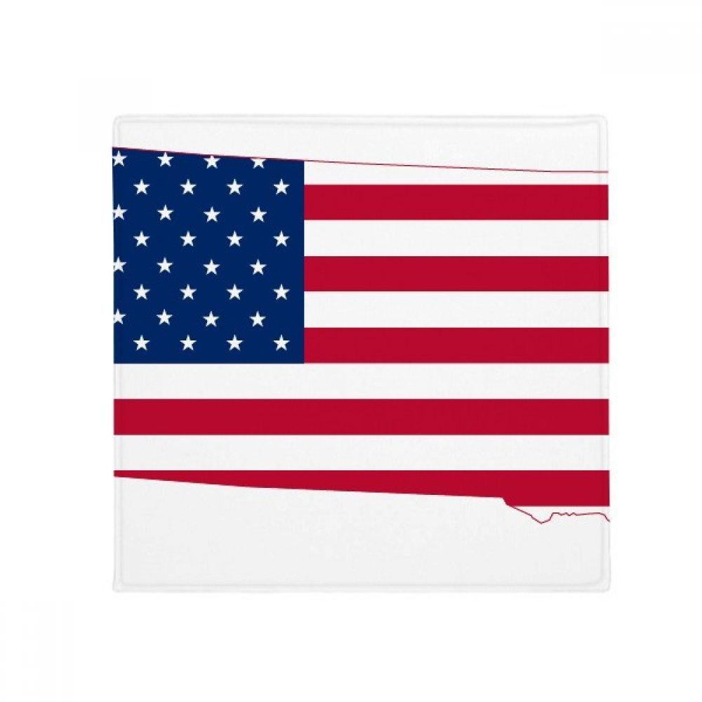 DIYthinker South Dakota USA Map Stars Stripes Flag Shape Anti-Slip Floor Pet Mat Square Home Kitchen Door 80Cm Gift