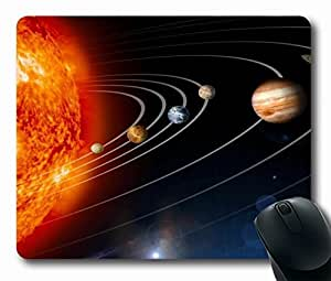 "Our Solar System Personalized Custom Mouse Pad Oblong Shaped in 220mm*180mm*3mm (9""*7"")Style 0127066 by icecream design"