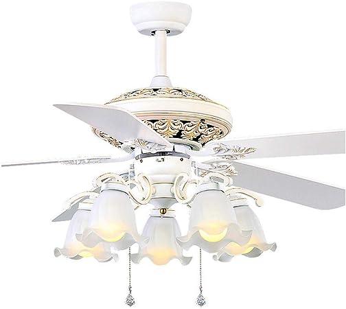 Luz del ventilador Ventilador de techo de luz minimalista Salón Dormitorio Comedor techo de la lámpara de Humos Iluminación Retro luces LED de la lámpara del ventilador Ventiladores de techo con ampar: