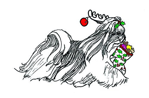 Shih Tzu Christmas Card (Blank Inside)