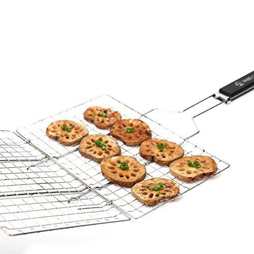 Roast Chicken BBQ Werkzeug Edelstahl Fisch Roast Chicken Barbecue im freien Netto Haushalts Grill grill