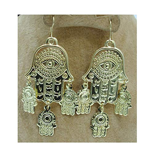 (Belly Dance Egyptian Metal Coin Earring Dangle Dancing Jewelry Gypsy 110 (Gold Tone) (Gold Tone))