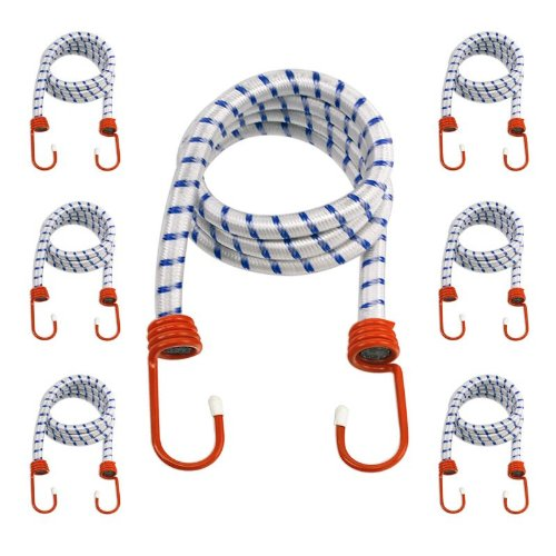 10 INCH BUNGEE CORDS SET OF 4 STRETCH TO 15 INCH MULTI-STRAND RUBBER CORE