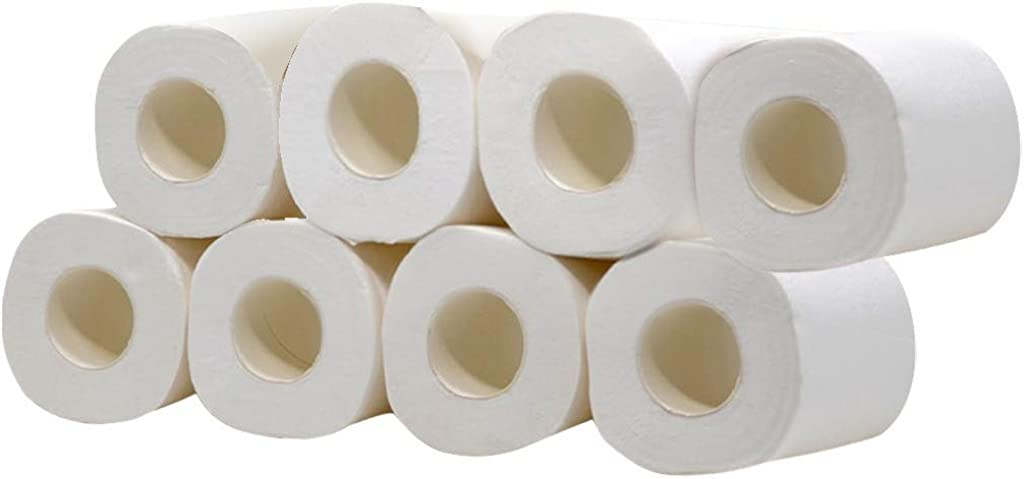 iTLOTL Large Supply!!! White Toilet Paper Toilet Roll Tissue 6/8/10/12 Roll Pack Towels Tissue