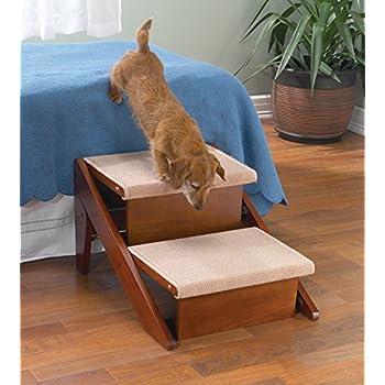 Amazon Com Pet Studio Pine Frame Dog Rampsteps 2 Step