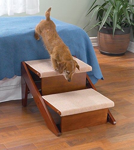 - Pet Studio Pine Frame Dog RampSteps, 2 Step