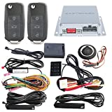 EASYGUARD PKE car alarm system with remote start starter push start stop button touch password entry uncut HAA key blade FSK technology code rolling ec002-v-ns