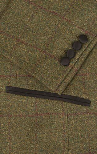 Check Tuxedo Contrast Green Regular Dobell Windowpane Lapel Shawl Tweed Fit Mens ZwTPCqxCt