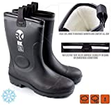Troy Safety TS-RKBW Men's Safety Waterproof Durable Insulated Rubber Sole Rain Snow Boots