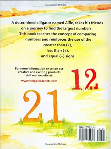 Alfie the Alligator: A Teaching Rhyme About Comparing Numbers ...