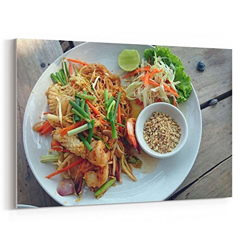 Westlake Art - Food Thai - 12x18 Canvas Print Wall Art - Canvas Stretched Gallery Wrap Modern Picture Photography Artwork - Ready to Hang 12x18 Inch (63FF-04BD9) by Westlake Art