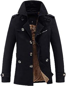 メンズジャケット、プラスサイズダウンジャケットメンズラペルシングルブレスト厚く暖かいカジュアルコートホリデーパーティースポーツ外出