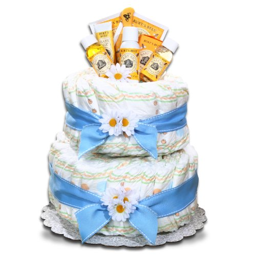 Alder Creek Gifts Boy's Burt's Bees Diaper Cake by Alder Creek Gifts