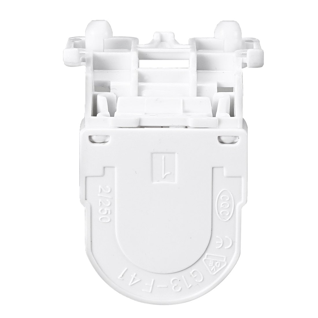 uxcell 8 Pcs 2A G13-F266 T8 Socket G13 Base Fluorescent Lamp Holder Light Accessory White a18031300ux0137