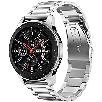 Shangpule Compatible Samsung Galaxy Watch Bands 42mm 46mm, Stainless Steel Metal Replacement Strap Bracelet Compatible Galaxy Watch SM-R810/SM-R800 ...