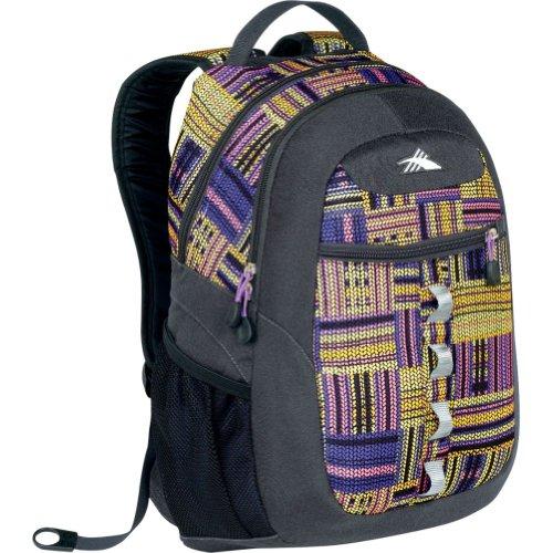 High Sierra Opie Backpack, Purple Pattern, 18.5×12.5×8.5-Inch, Outdoor Stuffs
