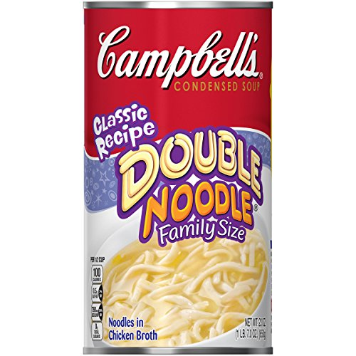- Campbell's Condensed Soup, Double Noodle, Family Size, 23 Ounce (Pack of 12)