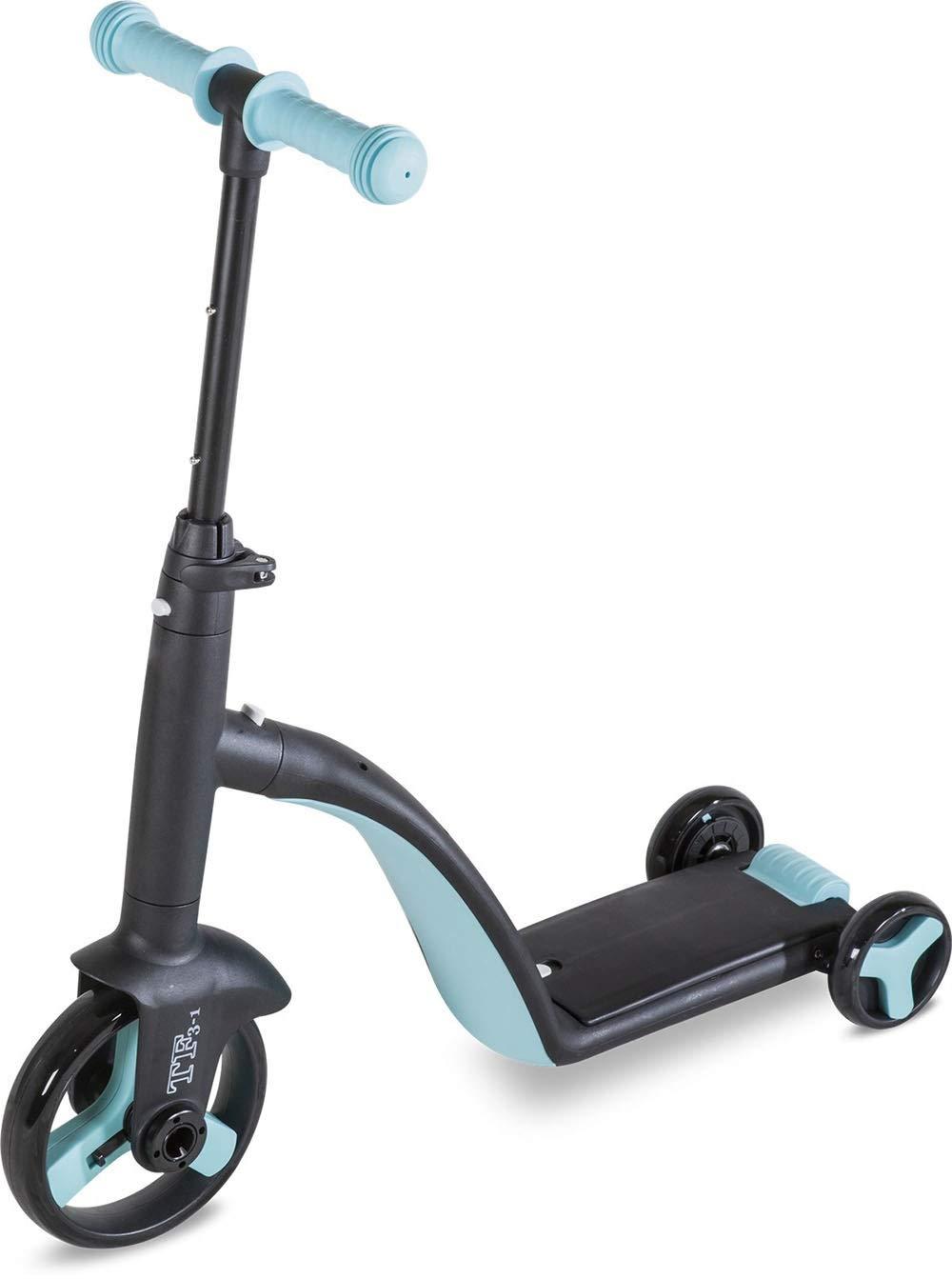 Hkkint 子供用三輪車、多機能三輪車、高さ調整可能、子供用ギフトに最適 ( Color : 青 )