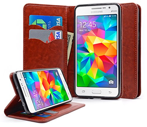 Galaxy Grand Prime Case, NageBee - Wallet Flip Case Pouch Cover Fold Stand case Premium Leather Wallet Flip Case for Samsung Galaxy Grand Prime