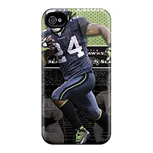 High Quality Iphone 4/4s Cases And Covers Printing Seattle Seahawks