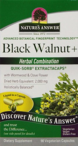 - Nature's Answer Black Walnut and Wormwood Extract Capsules, 90 Count