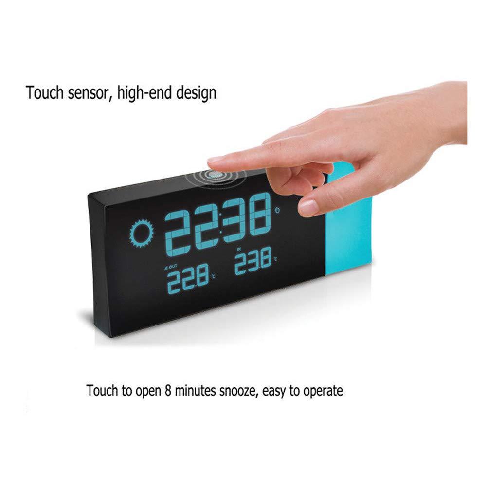 OOFAYWFD Despertador proyector Reloj proyector para el Dormitorio, Techo, Cocina, Escritorio, Estante, Pared, Viaje, hogar: Amazon.es: Hogar