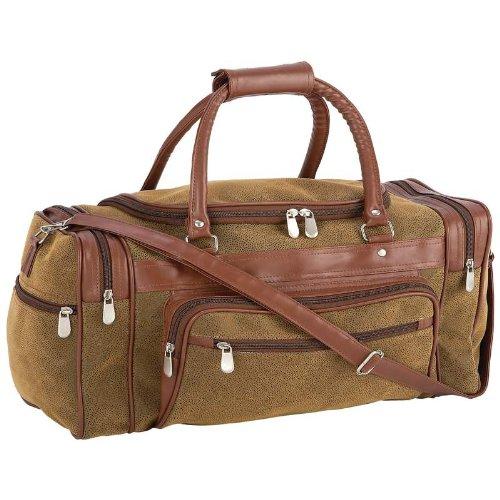 Brown Embassy Bag (Embassy(TM) Travel Gear Faux Leather 23'' Tote Bag Embassy(TM) Travel Gear Faux)