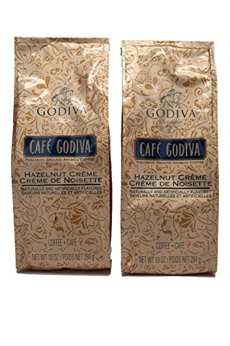 2 Bags Godiva Coffee HAZELNUT CREME COFFEE New 10 oz each