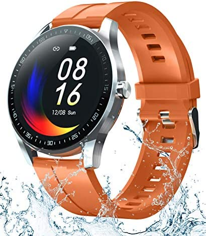 Smart Watch Fitness Tracker for Android iOS Phones,Body Temperature Smartwatch with Heart Rate Sleep Blood Pressure Blood Oxygen Monitor,Smart Watch for Men Women Compatible iPhone Android Samsung. 1