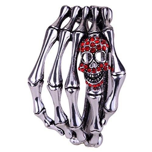 Hiddlston Crystal Sugar Skull Skeleton Bracelet Bangle For Women - Sugar Skull Costume Man