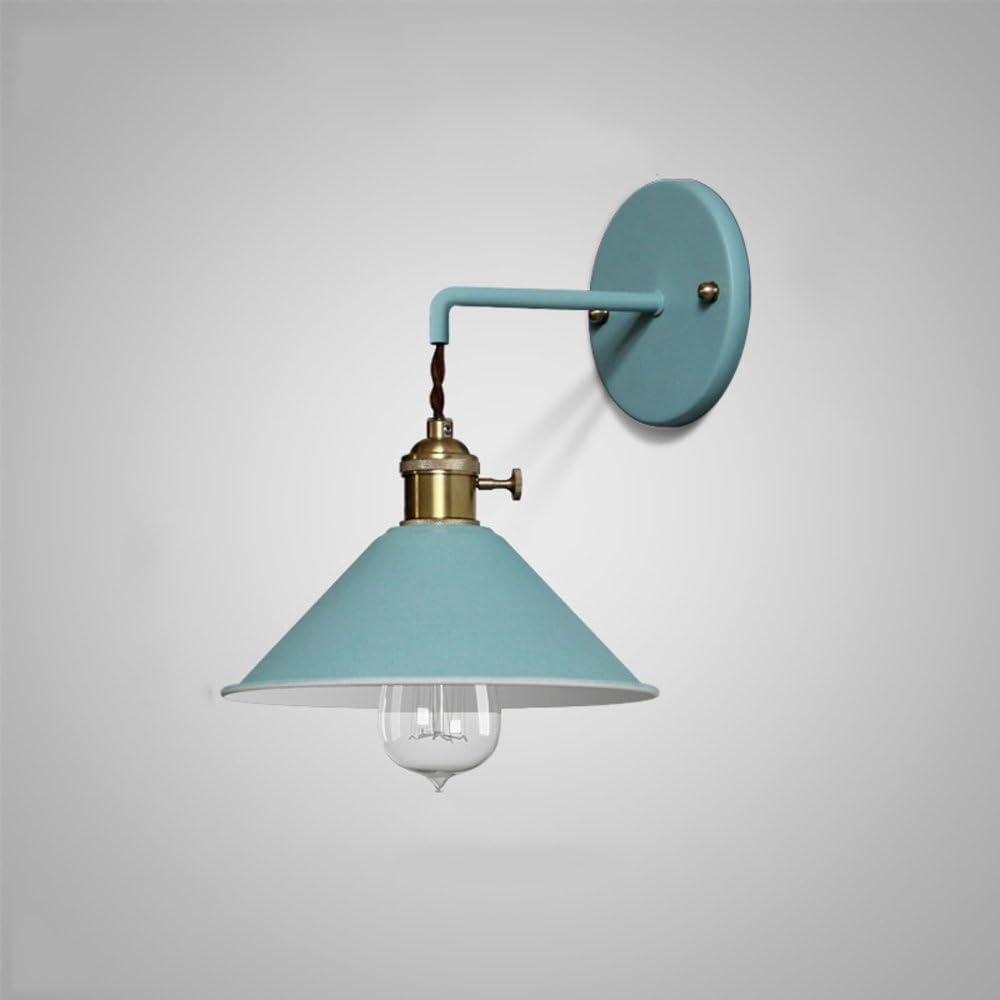 KMYX Moderne Color/é Macaron Petites Appliques Appliques avec interrupteur Chambre des Enfants Chambre Lampe de Chevet /Étude D/écoratif Restaurant Caf/é Bar Lampe Murale Color : Blue