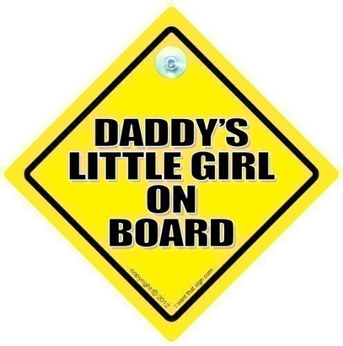 BABY iwantthatsign.com Daddy's Little Girl On Board, Car Sign, Car Signs, Baby On Board Car Sign, Baby Car Signs, Car Sign, Bumper Sticker, Decal, Daddy Car Sign