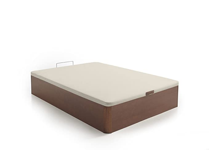 SERMAHOME- Canapé Modelo Teja Color Cerezo con Base tapizada 3D Color Beige. Altura del cajón: 32 cm. Medida 135 x 190 cm.: Amazon.es: Hogar