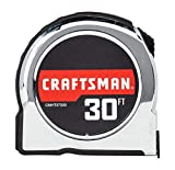 CRAFTSMAN Tape Measure, Chrome Classic, 30-Foot