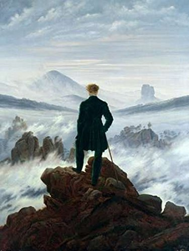 Posterazzi Wanderer Above the Sea of Fog Poster Print by Caspar David Friedrich (11 x 14) (Wanderer Above The Sea Of Fog Print)