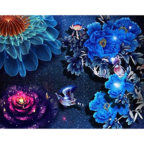 - Chenway DIY Diamond Painting 5d Animal Pattern Kit Square Drill Crystal Drawn by Numbers Art Craft Decoration - Beauty & Flowers 30x40cm (C)