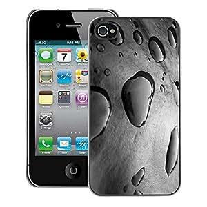 A-type Arte & diseño plástico duro Fundas Cover Cubre Hard Case Cover para iPhone 4 / 4S (Rain Puddle Grey Nature Fresh Spring)