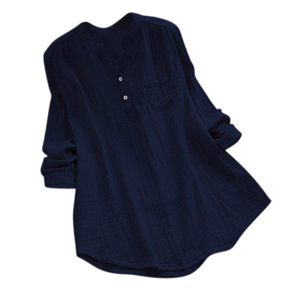 Kinrui Women's Tops & Blouse SHIRT レディース B07HRC36B4 ネイビー Large