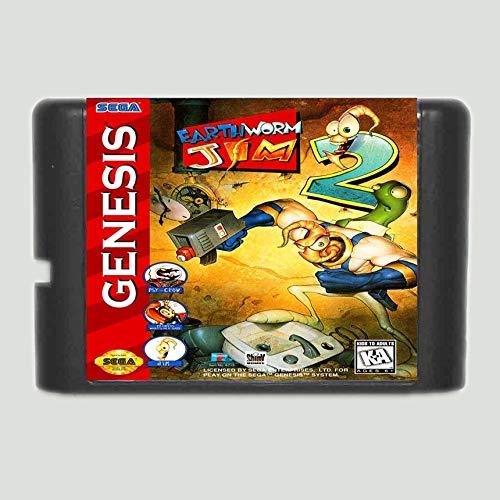 - Earth Worm Jim 2 16 Bit Game Card For Sega Mega Drive & Sega Genesis