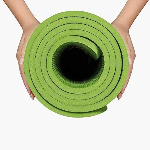 Eco friendly ヨガマットノンスリップエクササイズマット無公害ヨガ/ピラティス/エクササイズ/体操に適したフィットネスマット - 200センチメートル* 130センチメートル* 10ミリメートル緑 exercise