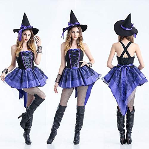 MINGZE Disfraz de Halloween Bruja Sexy Bruja Vampiro Princesa ...